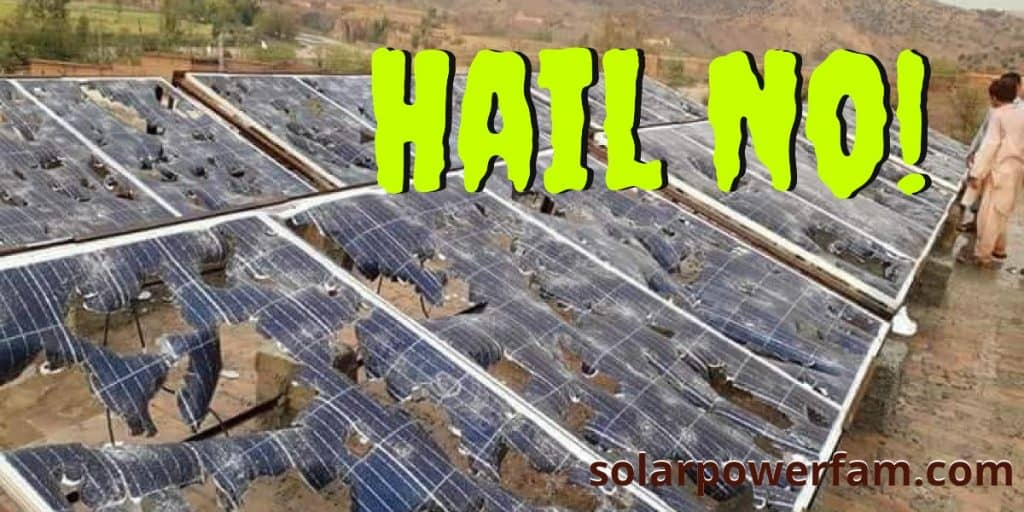 protecting solar panels from hail storms